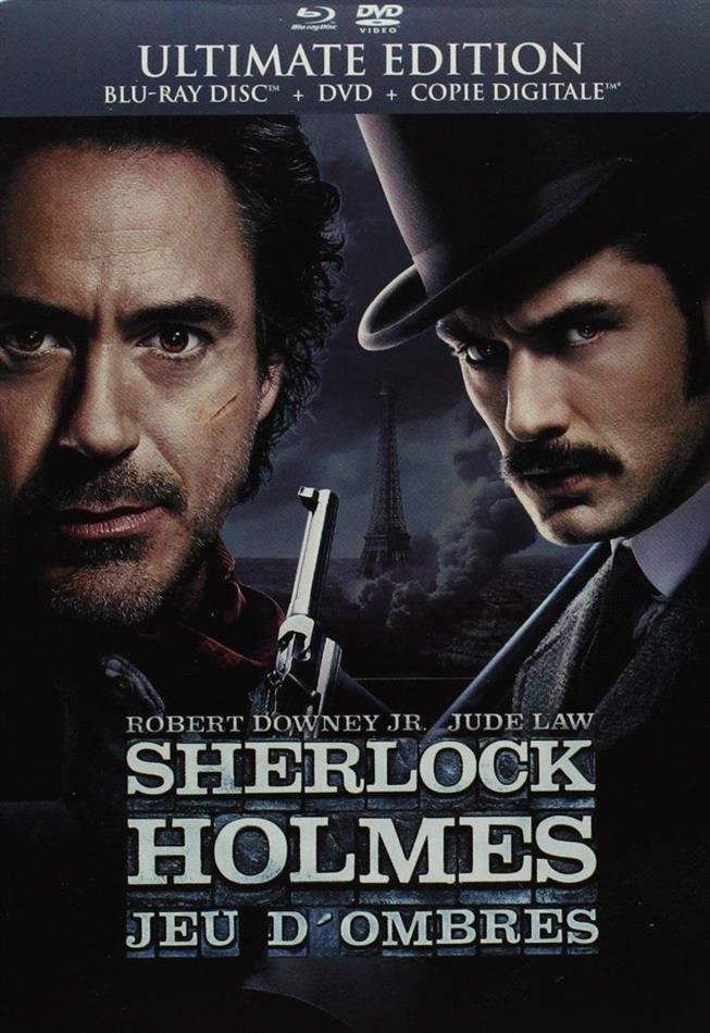 Sherlock Holmes 2 - Jeu d'ombres (2011) (Steelbook, Blu-ray + DVD)