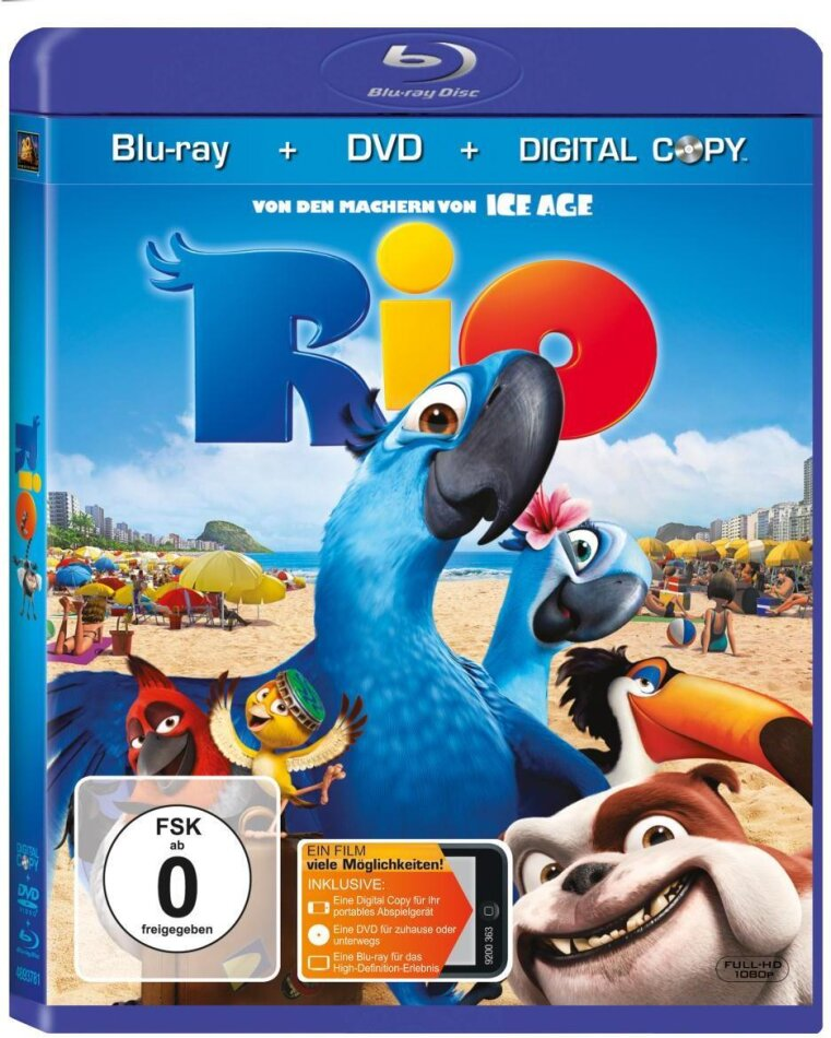 Rio (2011) (Blu-ray + DVD)
