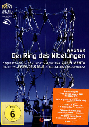 Orquestra de la Comunitat Valenciana, La Fura Dels Baus, … - Wagner - Der Ring des Nibelungen (C Major, Unitel Classica, 8 DVDs)