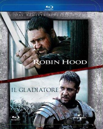 Robin Hood (2010) / Il Gladiatore (2000) (Steelbook, 2 Blu-rays)