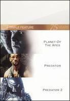 Planet of the Apes (2001) / Predator / Predator 2 (3 DVDs)