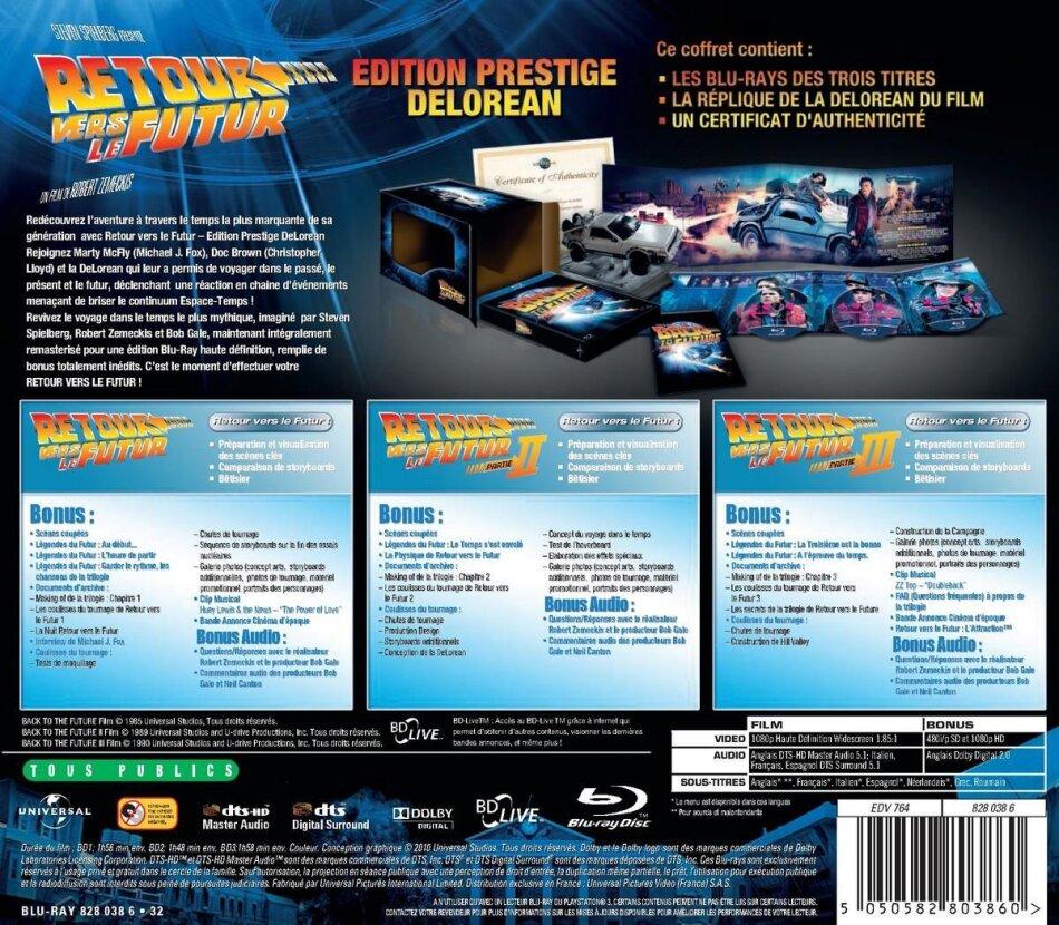 Retour vers le futur - Trilogie (25th Anniversary Edition limitée avec réplique DeLorean)