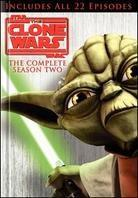Star Wars - The Clone Wars - Season 2 (Collector's Edition, 4 DVDs + Buch)