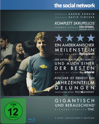 The Social Network - The Facebook Movie (2010) (Collector's Edition, 2 Blu-rays)