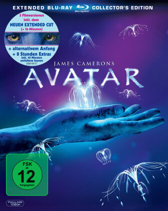 Avatar - Aufbruch nach Pandora (2009) (Extended Collector's Edition, 3 Blu-rays)