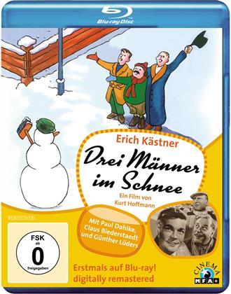 Drei Männer im Schnee (s/w)