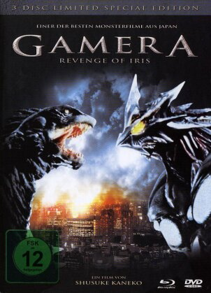 Gamera - Revenge of Iris (Limited Special Edition, Mediabook, Blu-ray + 2 DVDs)