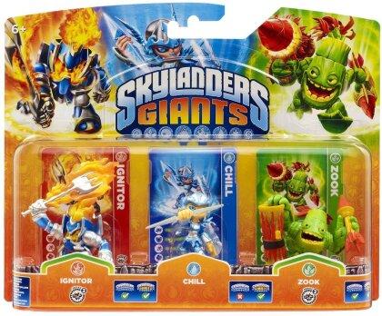 Skylanders Giants Triple pack B Chill, Zook, Ignitor W 1.0