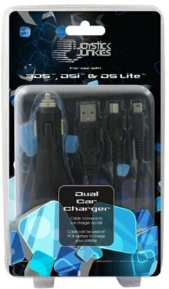 Joystick Junkies Car Charger black [NDSi, NDS, Nintendo 3DS]