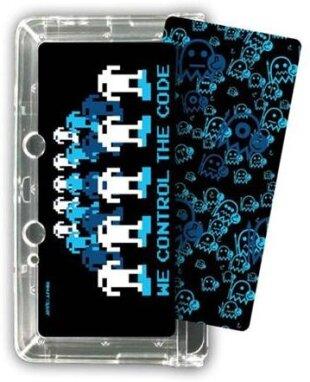 Joystick Junkies Crystal Case, black [Nintendo 3DS]