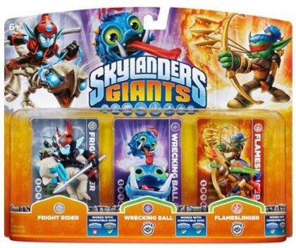 Skylanders Giants Triple pack G Wrecking Ball, Fright Rider, Flameslinger W 4.0