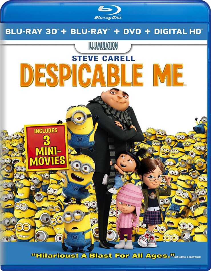 Despicable Me (2010) (Blu-ray 3D (+2D) + Blu-ray + DVD)