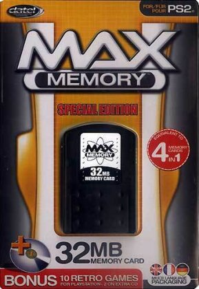 PS2 Memory Card 32MB Max