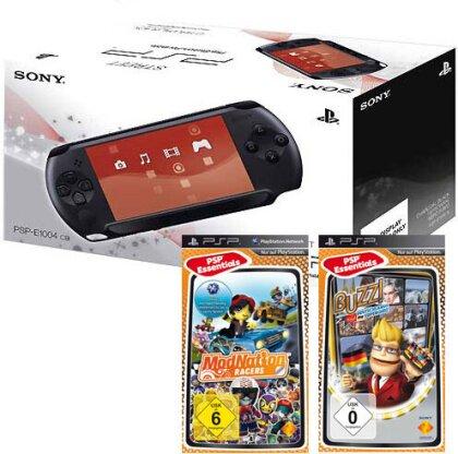 PSP Konsole Street E1004 + 2 Games BUzz Deutschland Quiz + ModNation Racer