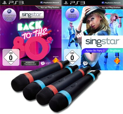 Singstar Silvester Bundle Apres Ski 2 + Back to the 80'S + 2x2Mics