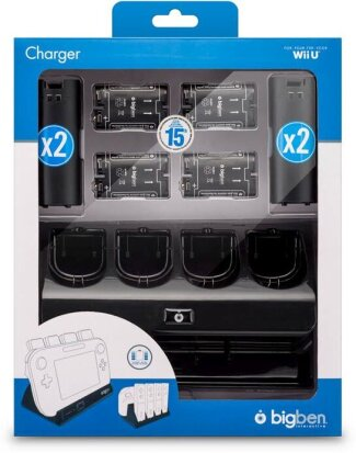4+1 Charger incl. 4 Batteries - black