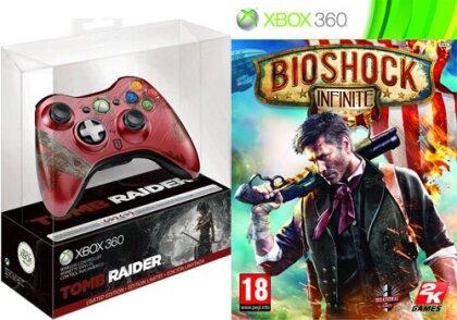 XB360 Controller Tomb Raider + Bioshock Infinite