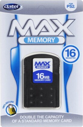 PS2 Memory Card 16MB Max DATEL