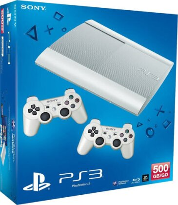Sony PS3 500GB white + 2. Dual Shock whi te
