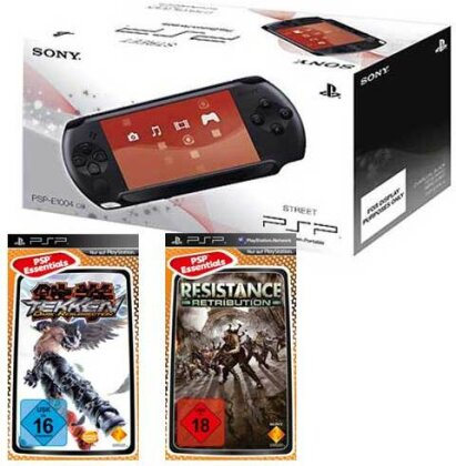 PSP Konsole E1004 + Resistance Retribut Tekken Dark Resurrection