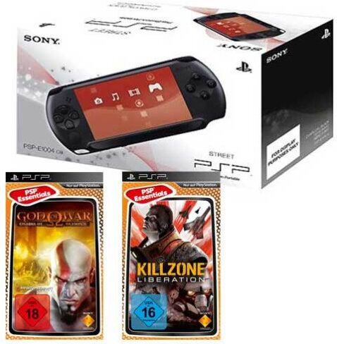 PSP Konsole E1004 + God of War Chains.. Killzone Liberations