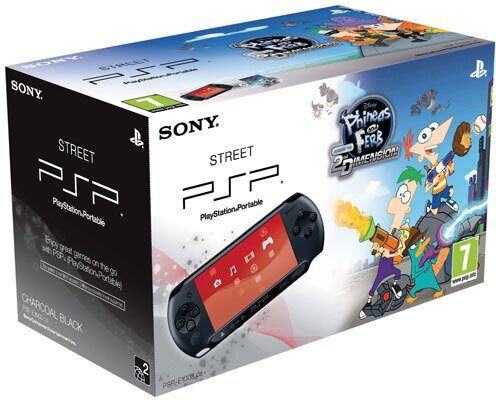 PSP Konsole Street E1004 + Phineas & Ferbs