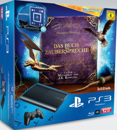 Sony PS3 12 GB + Wonderbook Starter Pac Model 4004