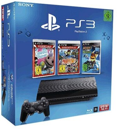 Sony PS3 12 GB + 3 Games LBP + Modnation + Ratchet&Clank Q-Force