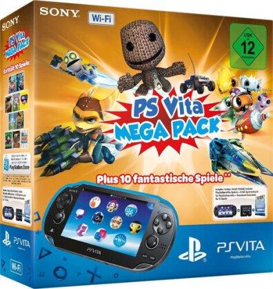 PSVita Konsole WiFi MEGA PACK 1 inkl 8 GB Memory Card + DLC für 10 Games
