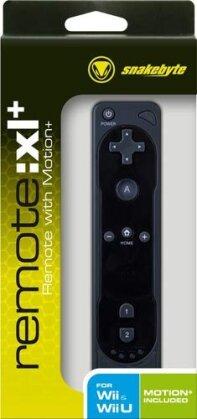 Wii Controller Remote XL+ schwarz Snakebyte