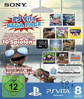PSVZ Memory Stick 8GB Orig. MEGA Pack + Gutschein zum Download