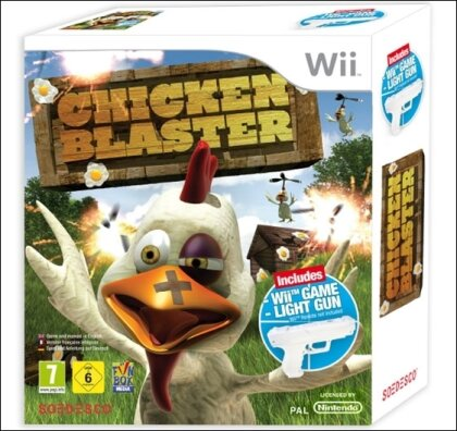 Wii Chicken Blaster + Light Gun