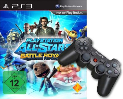 PS3 Controller org. black + AllStars Battle Royale w