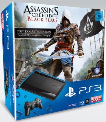Sony PS3 500GB + Assassin's Creed 4 Black Flag