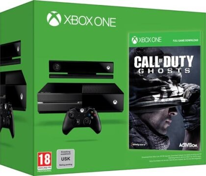 Xbox-One Konsole 500GB + Call of Duty 10 Ghosts