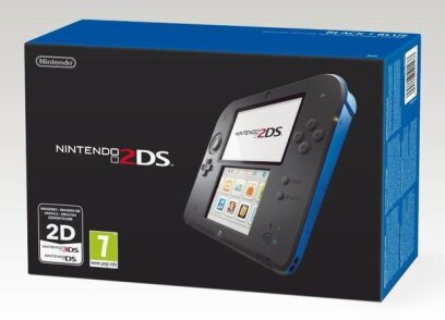 2DS Console incl. Download Code New Super Mario Bros. 2 - black + blue