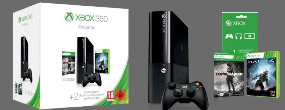Holiday Value Bundle - Console 250 GB incl. Halo 4/Tomb Raider