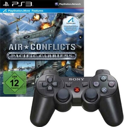 PS3 Controller wireless DualShock black + Air Conflict