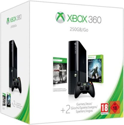 XB360 Konsole 250 GB + Tomb Raider +Halo 4