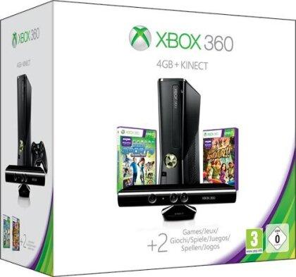 XB360 Konsole 4GB + Kinect Sports 2 + 1 Monate XBL Gold
