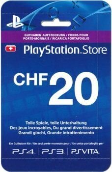 PSN Playstation Network Live Card CHF20