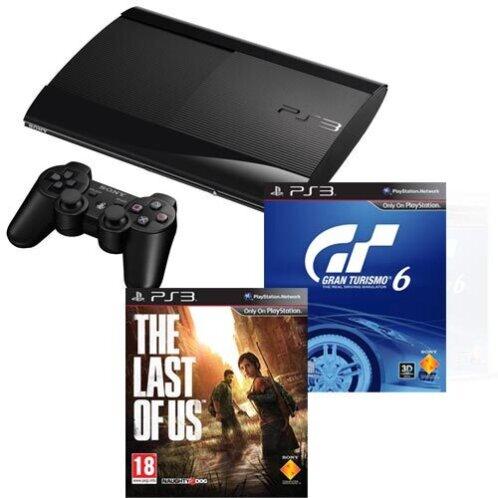 Sony Playstation 3 500GB + Gran Turismo 6 + Last of Us