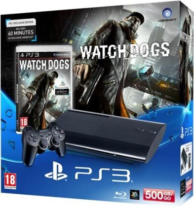 Sony PS3 500GB + Watch Dogs