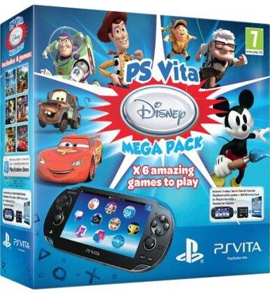 PSVita Konsole WiFi Mega Pack Disney inkl. 8GB Memo + DLC für 6 Games