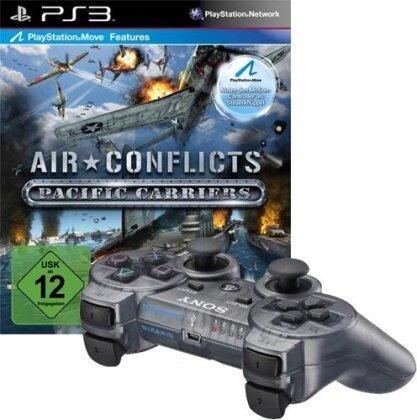 PS3 Controller orginal grau metallic + Air Conlict