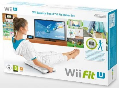 Wii-Fit U + Fit Meter grün+ Board (white)