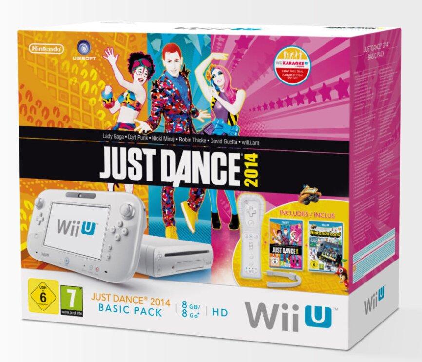 WiiU Konsole Basic white (Nintendo Land + Just Dance 2014)