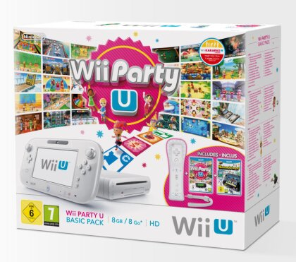 WiiU Konsole Basic Party Pack white (Nintendo Land + Wii Party U)