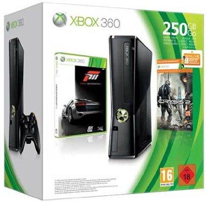 XB360 Konsole 250 GB + Forza 3 + Crysis 2