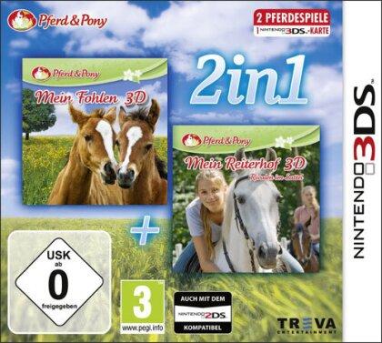 2 in 1 3DS Mein Fohlen Mein Reiterhof Rivalen im Sattel